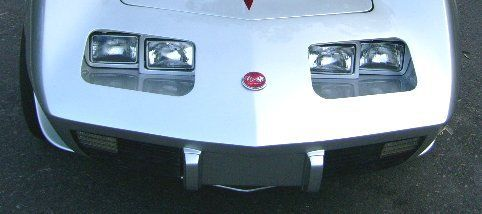 Corvette C3 Rectangular Fixed Headlight Kit 75 82 Corvette C3 Corvette Corvette Convertible