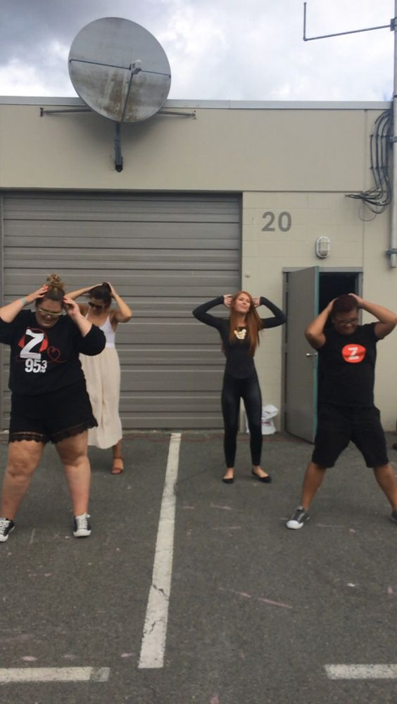 Ha! I made my team learn a dance to Taylor Swift for a flash mob. Choreo by me! We had over 200 people show up and learn the moves for a chance to meet Taylor Swift!