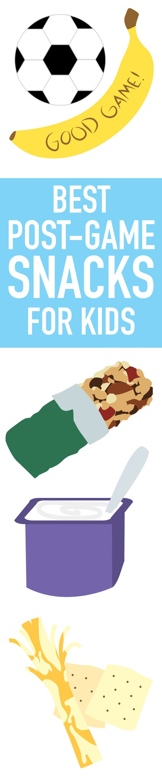 Lessons on proper ways to fuel an active body are just as vital as teaching kids to throw and pass. #Snacks #SnackRecipes #KidsSnacks