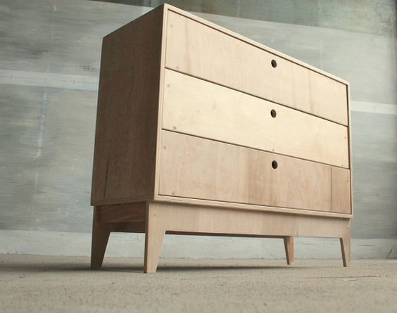 Plywood chest of drawers vent polish design muebles for Entreposage meuble montreal