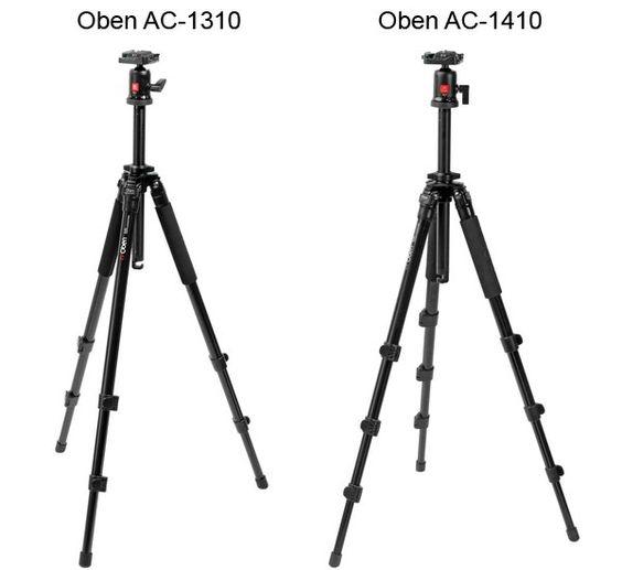 Oben AC-1310 vs. AC-1410 Tripod Comparison via www.pentaxforums.com