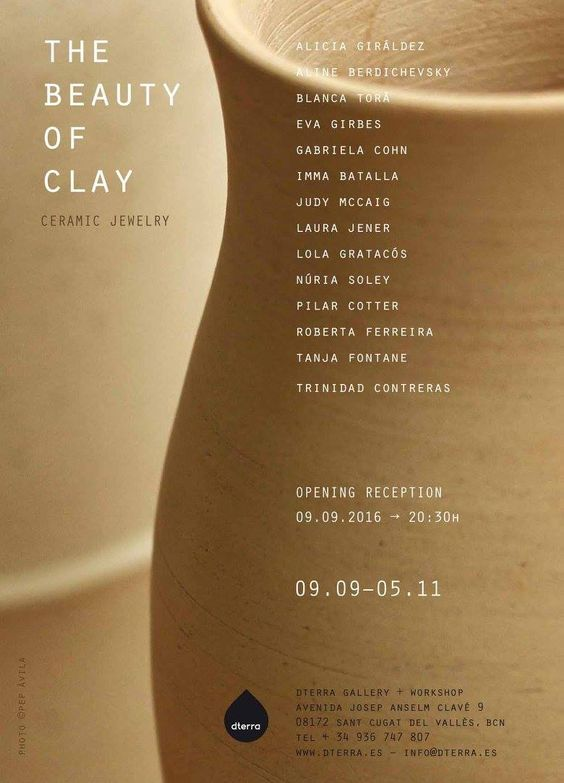 "OFF JOYA 2016 - ""THE BEAUTY OF CLAY."" Ceramic jewelry. DTerra Gallery"