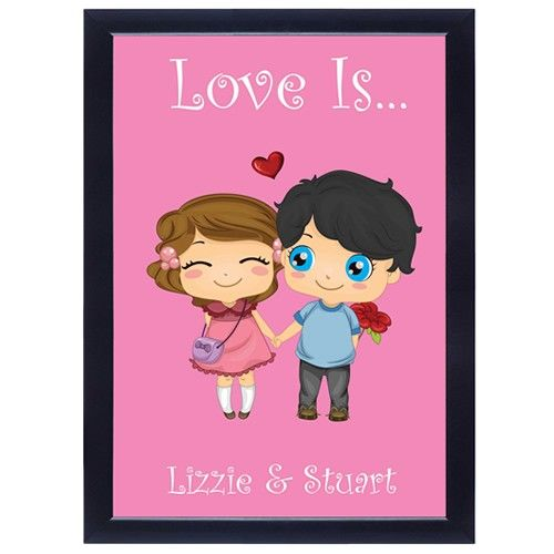 Personalised Poster - Love Is...  from www.personalisedweddinggifts.co.uk :: ONLY £19.99