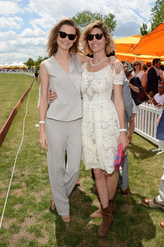 Pin for Later: When in Maui, Emma Roberts Does as the Hawaiians Do Behati Prinsloo and Delfina Blaquier Behati Prinsloo in Calvin Klein Collection and Delfina Blaquier in Tracy Reese at the Veuve Clicquot Polo Classic.