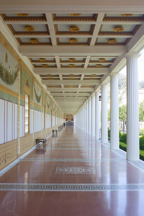 The Getty Roman Villa in Malibu, California, the inspiration for our company, Abaciscus!: