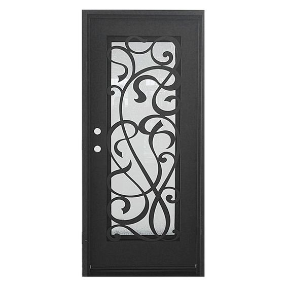 "Iron Doors - Marina - Dark Bronze Marina / 82""x38"" / Flat Top / Right Hand Inswing"