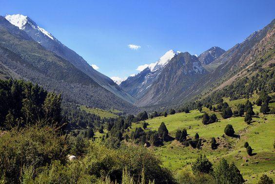 Tien Shan valley near Bishkek, Kyrgyzstan.  HOST FAMILIES NEEDED for high school exchange students from Kyrgyzstan.  Contact OCEAN for more information.  Toll-Free: 1-888-996-2326; E-mail: info@ocean-intl.org; Web: www.ocean-intl.org