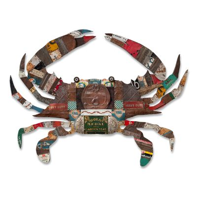 Blue Crab Collection by Dolan Geiman: Mixed-Media Wall Art available at www.artfulhome.com: