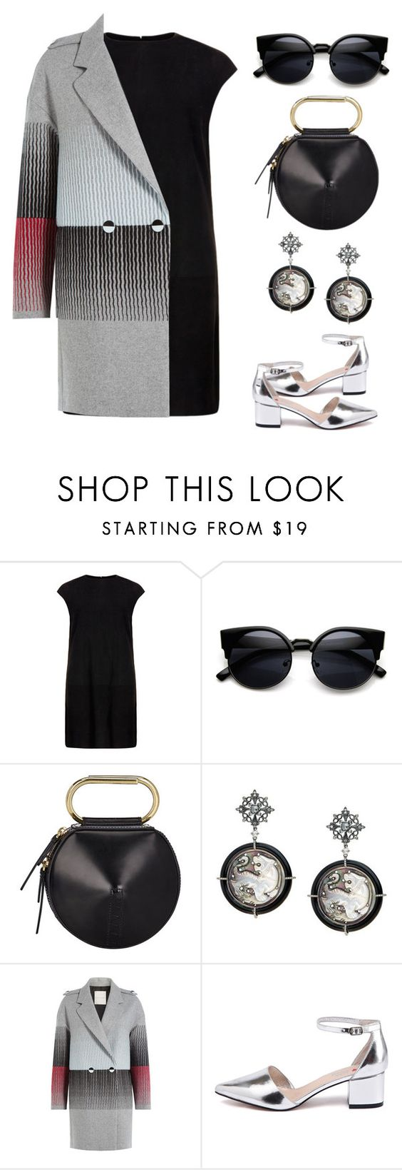 """Charcoal"" by moonvi2 ❤ liked on Polyvore featuring MuuBaa, 3.1 Phillip Lim, Marco de Vincenzo, women's clothing, women, female, woman, misses and juniors"