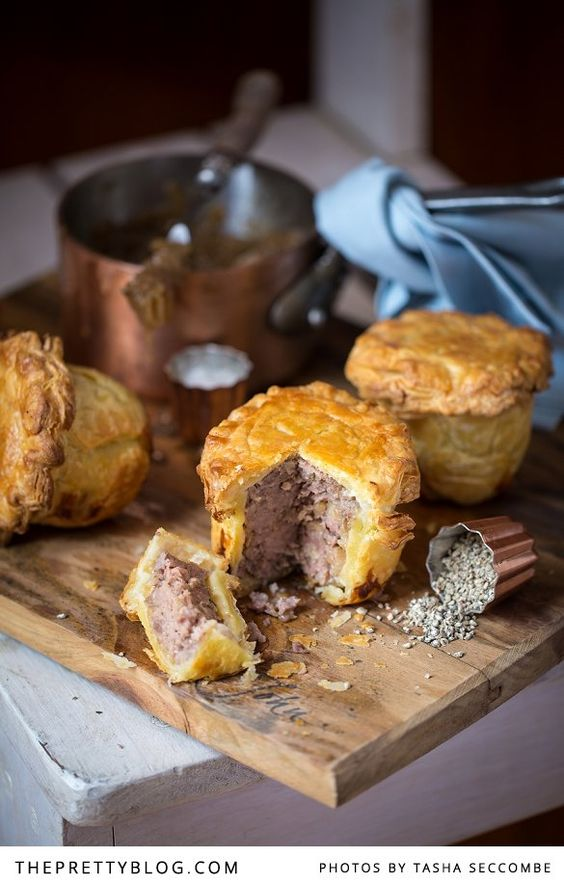 Pork Pies 2 tablespoons olive oil 1 large onion, finely diced 1 teaspoon fresh thyme leaves 600g fresh pork sausage (coarsely textured) ½ teaspoon all...