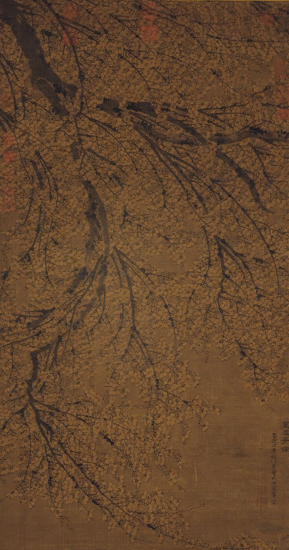 明 陳憲章 梅花, Plum Blossoms, Chen Xianzhang, Ming dynasty (1368-1644)
