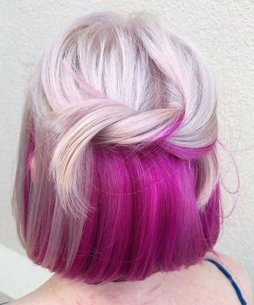 Pin By Katerina Tybus On Hair In 2020 Hair Color Pink Hair Color Underneath Under Hair Color