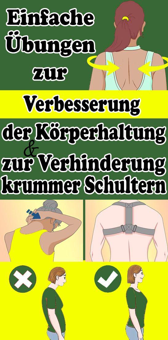 Einfache Ubungen Zur Verbesserung Der Korperhaltung Und Zur Verhinderung Krummer Schultern Fitness Gesundheit Leichte Fitness Fitness Und Bewegung