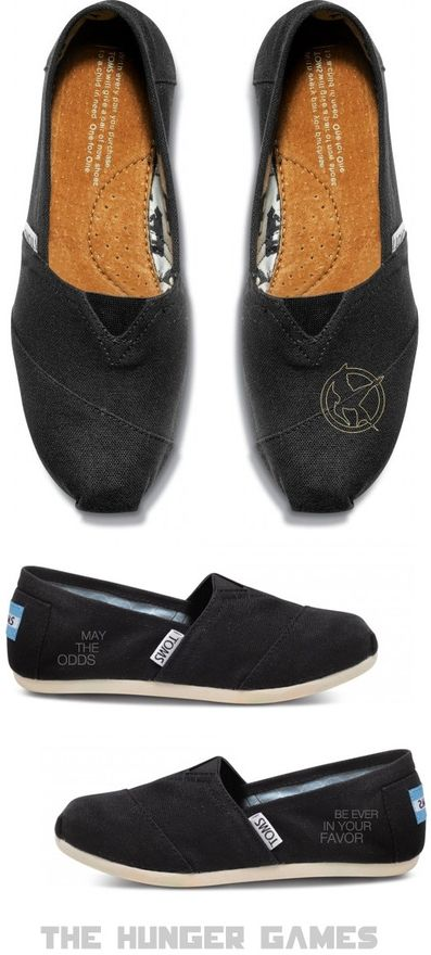 Custom Embroidered The Hunger Games Toms- I NEED THESE!: