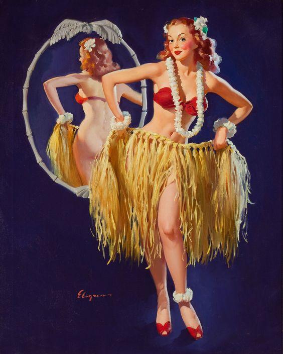 I Hope the Boys Don't Draw the Straws Tonight (Gil Elvgren, 1946)