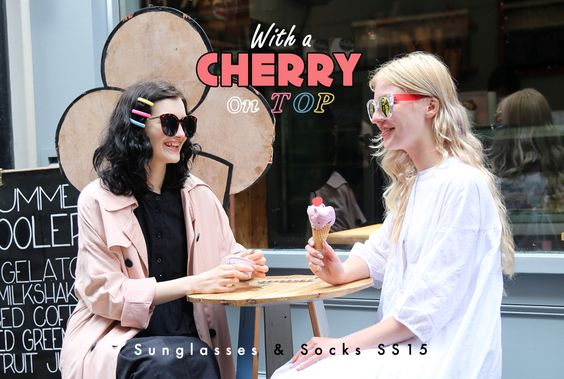 With a Cherry on Top Sunglasses & Socks SS15 - THE WHITEPEPPER http://www.thewhitepepper.com/collections/with-a-cherry-on-top-sunglasses-socks-ss15