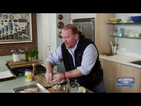 ▶ HOW-TO: Mario Batali's Favorite Parm Chicken Recipe - #Hellmanns100 - YouTube
