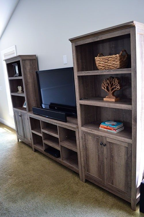 Pin By Maria Clayton On For The Home Rustic Bookcase Farmhouse Tv Stand Target Home Decor