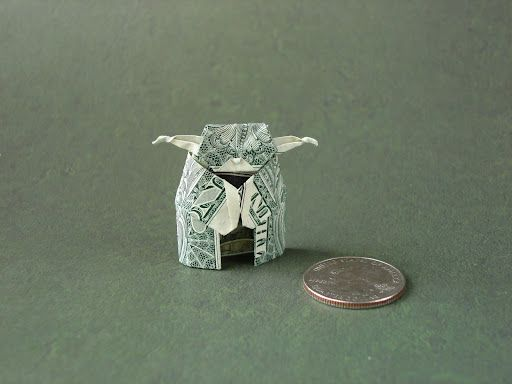 origami yoda origami and dollar bills on pinterest