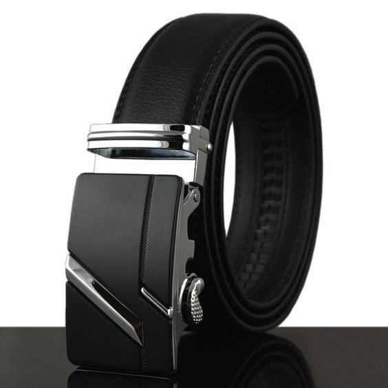 Belt New Designer Automatic Buckle Cowhide Leather men belt 110cm-130cm Luxury belts for men