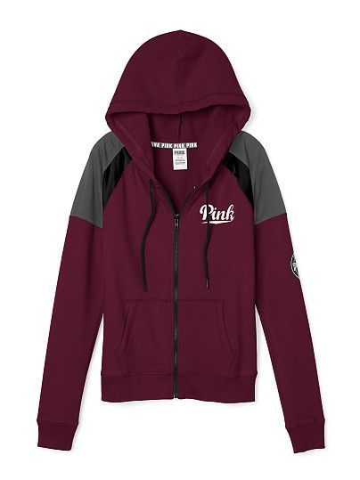 Perfect Full Zip Hoodie PINK | Victoria secret pink | Pinterest ...