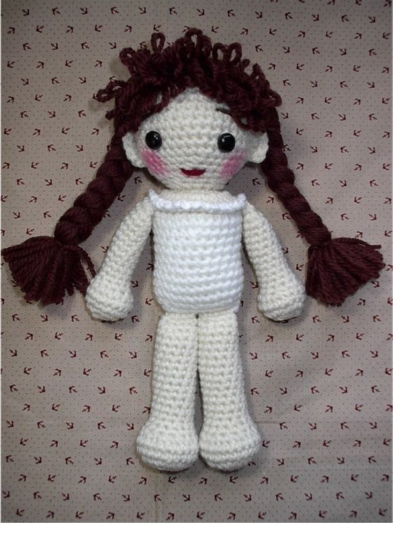 Basic Crochet Doll Pattern Free : Crochet dolls, Dolls and Crochet on Pinterest