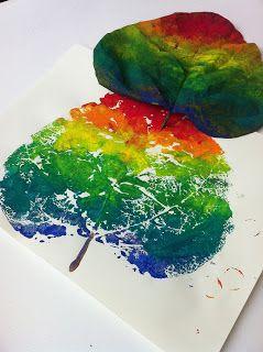 Kleine kunstprojecten voor grote kunstenaars!: Herfst: Regenboogboom
