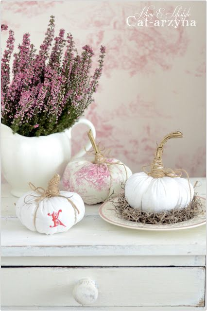 Cat-arzyna: Cute Vintage Fabric Pumpkins   Home Sweet Home ...