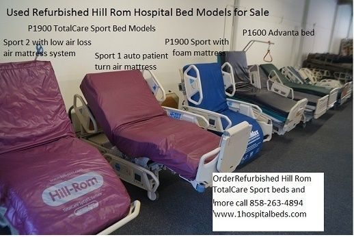 Hill Rom P1900 Totalcare Sport Hospital Bed With Air Mattress System That Performs Auto Patient Turning And Percussion Vib Hospital Bed Bed Sores Hospital