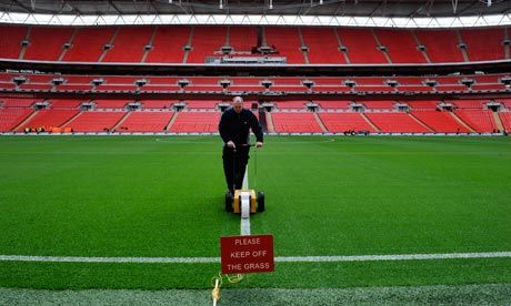 London's Wembley Stadium: a DessoGrass pitch. The company believes that products must be functional, high-quality, and price-competitive to enable true sustainability.