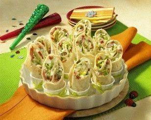Mini-Wraps mit Schafskäse-Füllung Rezept
