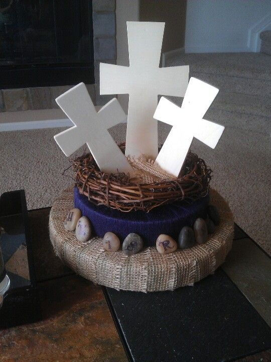 Easter centerpiece to display the real meaning three