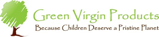 Green Virgin Products logo. Buy from Green Virgin Products to avoid carcinogens in everyday products.
