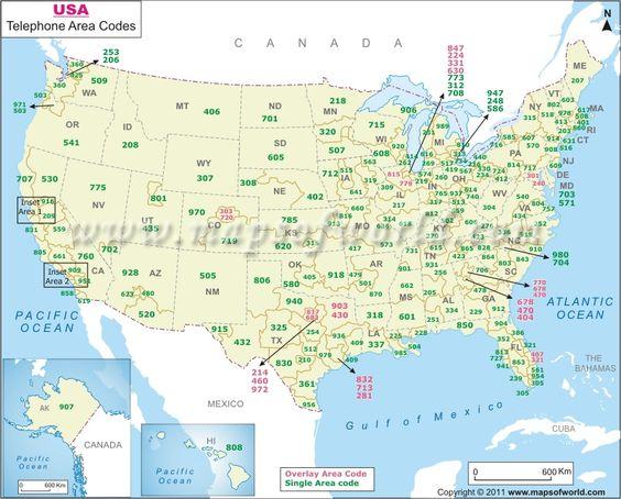 USA Area Codes