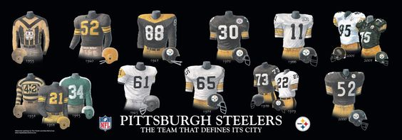Steelers History | Please click on the evolution of the Steelers uniform poster above for ...