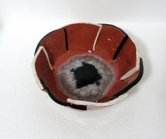Folded Ceramic Serving Bowl by Naz's Ceramics on Gourmly