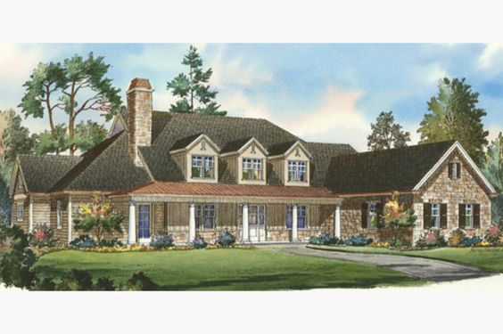 Traditional Style House Plan - 5 Beds 4.5 Baths 5150 Sq/Ft Plan #490-16 Exterior - Front Elevation - Houseplans.com