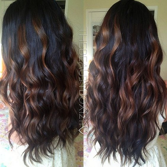 Dark Brunette Balayage. My hair will look like this sometime in my life! Iim