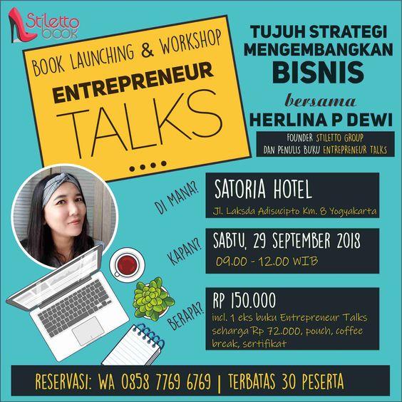 Book launching & Workshop Entrepreneur Talks