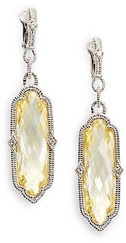 Judith Ripka Oblong Faceted Stone and Sterling Silver Earrings on shopstyle.com