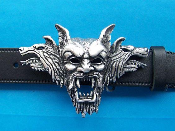 Dracula Vampire Pewter Belt Buckle