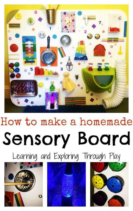 Diversión DIY Junta sensorial para niños - aprender y explorar a través del juego