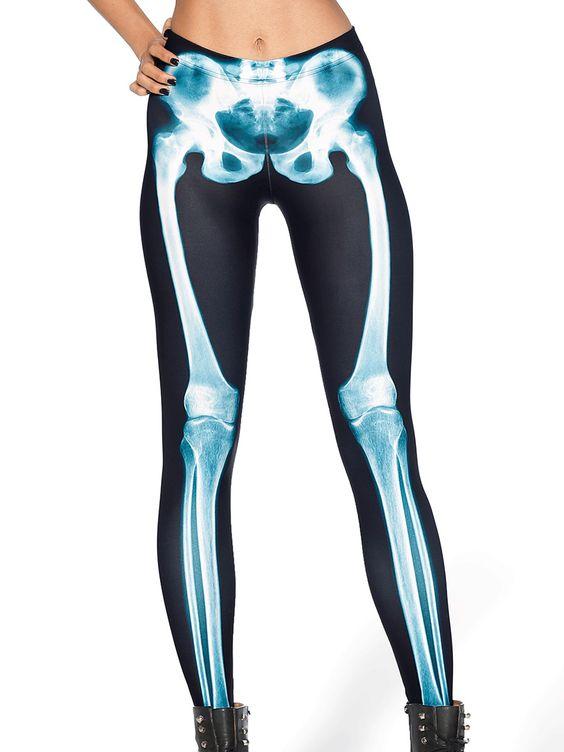 Leg Bones X-Ray MF Leggings (WW $75AUD / US $60USD) by Black Milk Clothing
