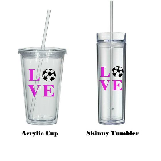 1 PERSONALIZED SOCCER Tumbler perfect stocking by BeVocalDesigns