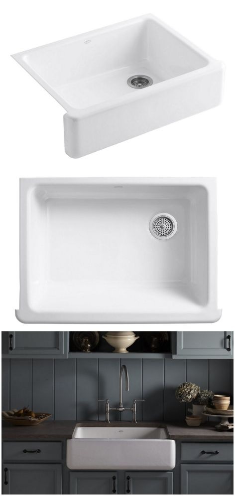 Farmhouse sinks, Diy kitchen remodel and Sinks on Pinterest