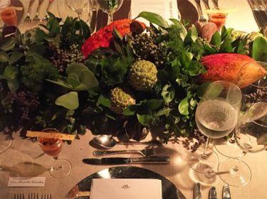 Mais um clique da decoração do jantar armado pela Hermès