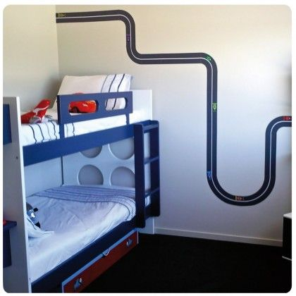 Racing track removable wall stickers