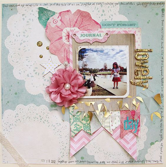 Roebuck Adventures: Frilly Layout with Noel Mignon Melrose Kit