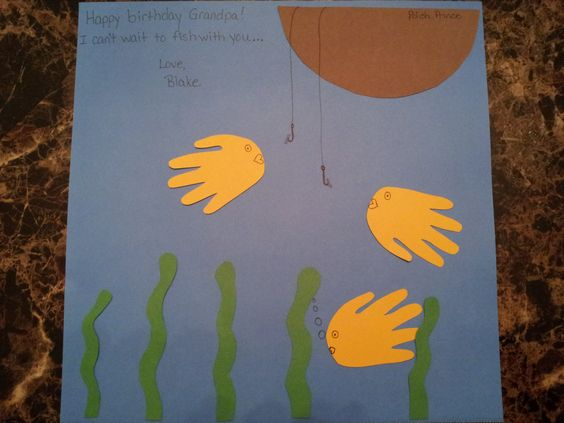 Blake's handprint fish for grandpa