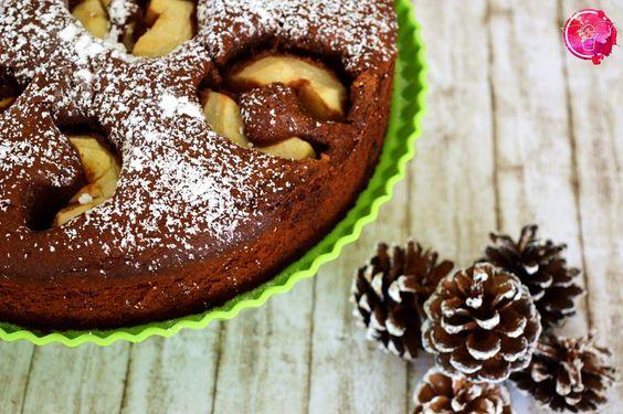 Versunkener Schoko-Apfel-Kuchen. Der perfekte Kuchen für den Herbst!